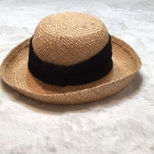 August natural straw hat